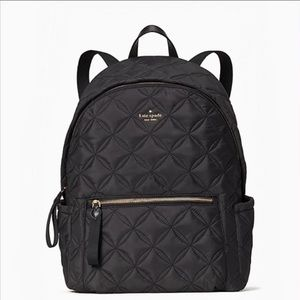 ♠️Kate Spade Chelsea Quilted Nylon Large Backpack Black NWT